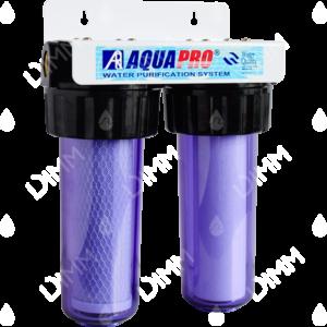 Purificateur d'eau système jumelé AHS3 avec cartouches raccordement 1''