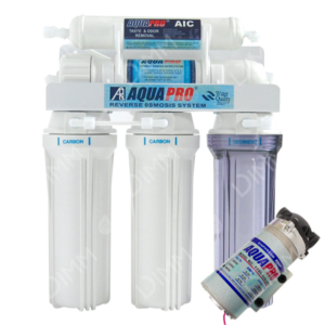 Osmoseur domestique AP 5000 - 75 GPD (284 L/j) avec pompe booster
