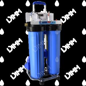 Purificateur d'eau système jumelé Big Blue 20'' avec compteur TDS + chariot raccordement 1''