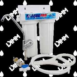 purificateur d'eau aquapro 2 niveaux sous évier avec cartouches