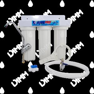 Purificateur d'eau sous évier transparent 3 niveaux avec cartouches