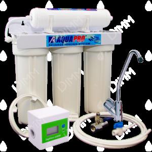 Purificateur d'eau sous évier 4 niveaux anti-nitrates compteur et cartouche ultrafiltration