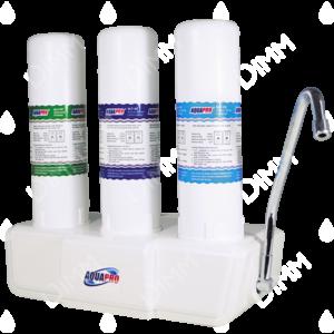 Purificateur d'eau countertop 3 niveaux avec cartouches NLF et compteur