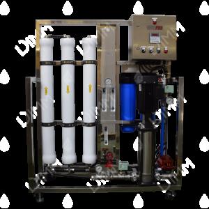 Osmoseur large 4500 GPD (17034 L/j) avec boitier IP + conductivimètre + recirculation