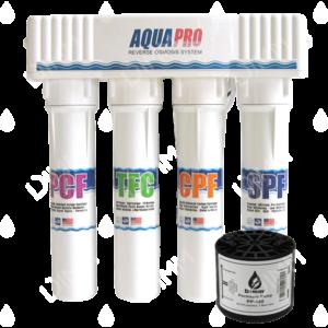 Osmoseur 680 blanc - 100 GPD (380 L/j) avec pompe permeat