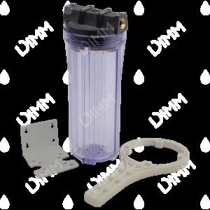 Porte-filtre AEG 10'' avec accessoires - raccordement en laiton 3/4''