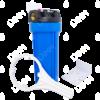 Porte-filtre AQF 10'' avec accessoires - raccordement en laiton 1/2''