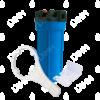 Porte-filtre AQF 10'' avec accessoires - raccordement 3/4''