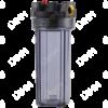 Porte-filtre AQF 10'' - raccordement en laiton 3/8''