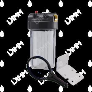 Porte-filtre AQF Big Blue 10'' avec accessoires - raccordement en laiton 1''