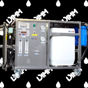 Osmoseur 1000 GPD (3785 L/j) avec conductivimètre + réservoir