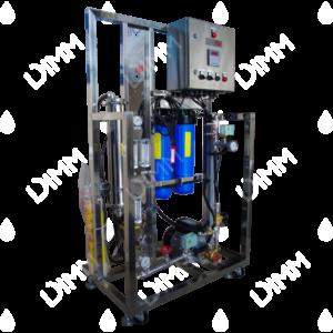 Osmoseur large 1000 GPD (3785 L/j) avec boitier IP + conductivimètre + recirculation