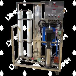 Osmoseur large 3000 GPD (11355 L/j) avec boitier IP + conductivimètre + recirculation